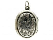 Silver Small Victorian Locket