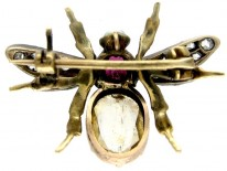 Gem Set Bug Brooch