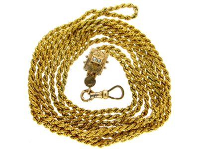 Pinchbeck & Gold Guard Chain