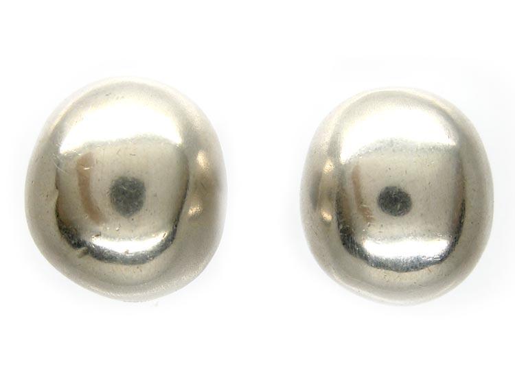 Silver Ball Clip on Earrings