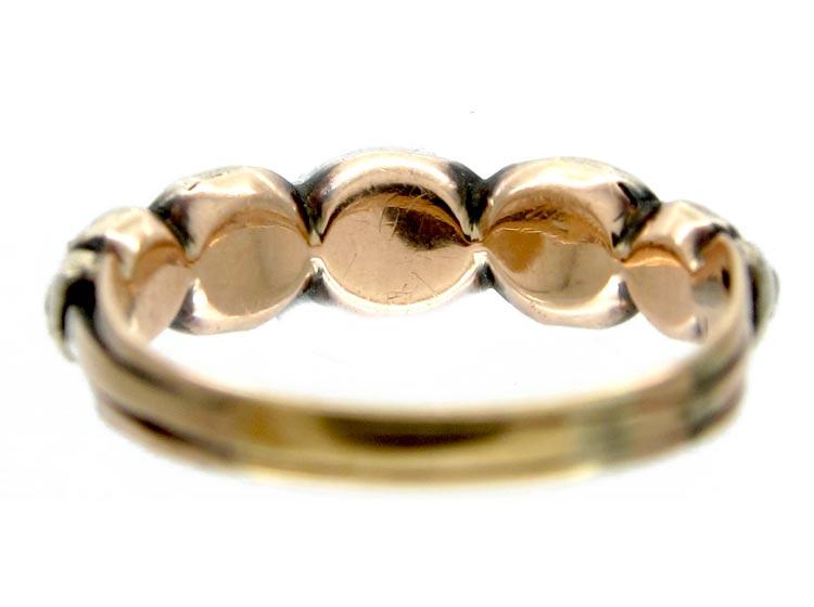 Georgian Rose Diamond Five Stone Ring