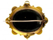 Banded Onyx 18ct Gold Brooch