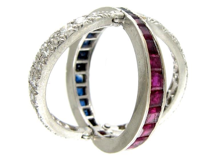 Flip Over Night & Day Gem Set Ring
