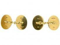 Squirrel 18ct Gold Cufflinks