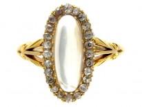 Moonstone & Diamond Edwardian Ring