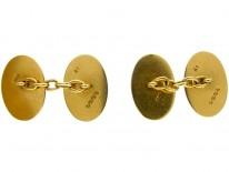 18ct Gold Crested Cufflinks