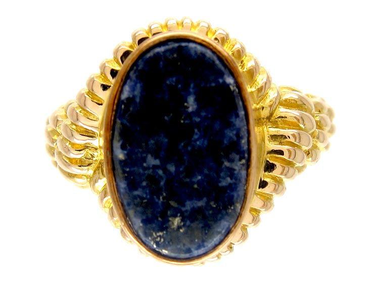 Lapis 15ct Gold Victorian Signet Ring