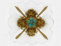 Maltese Cross Brooch