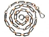 Silver & Niello Chain