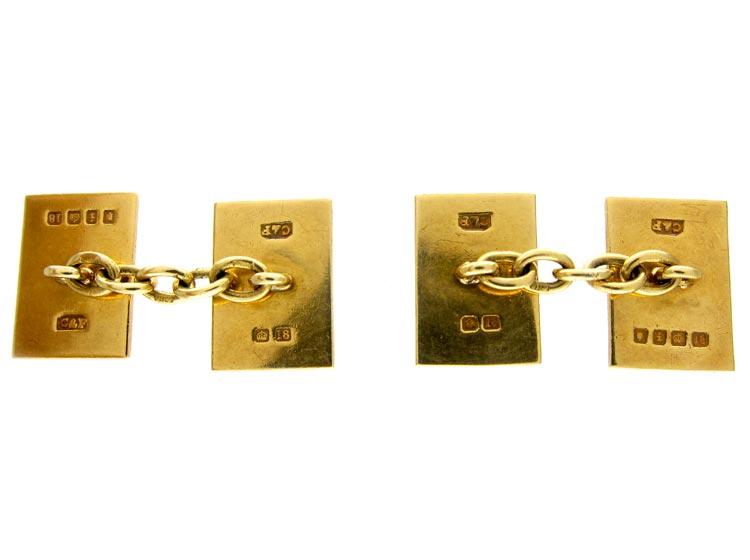 Enamel 18ct Gold Cufflinks