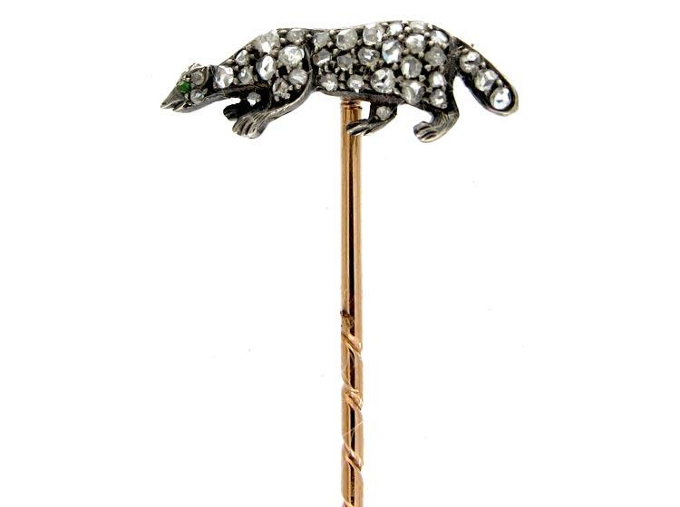 Diamond Badger Tie Pin