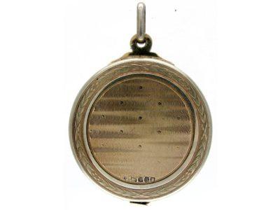 Large Silver Gilt Locket