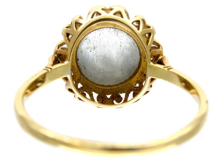 Man in Moon Moonstone Ring