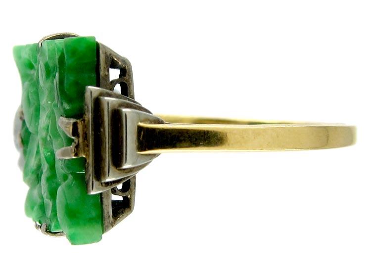 Jade Art Deco Ring
