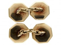 Mother of Pearl & 9ct Gold Cufflinks