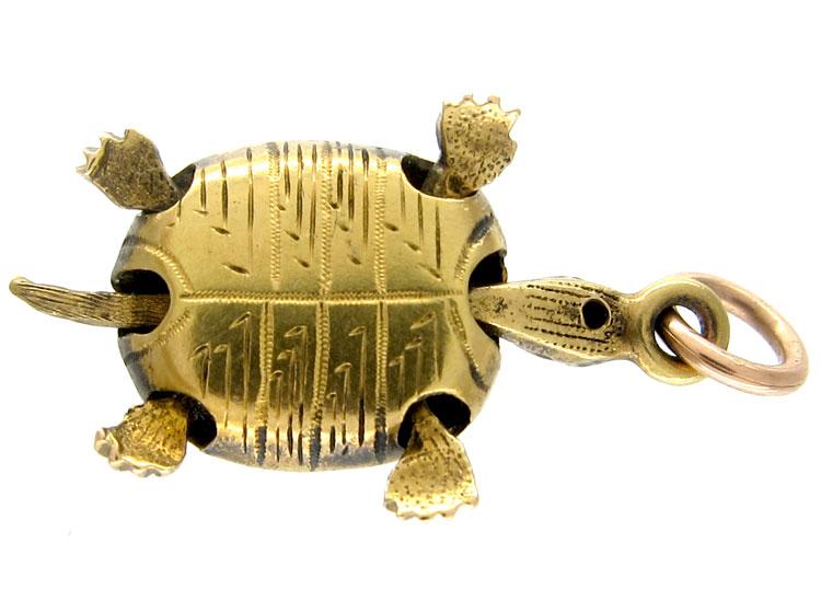 Gem Set Tortoise Charm