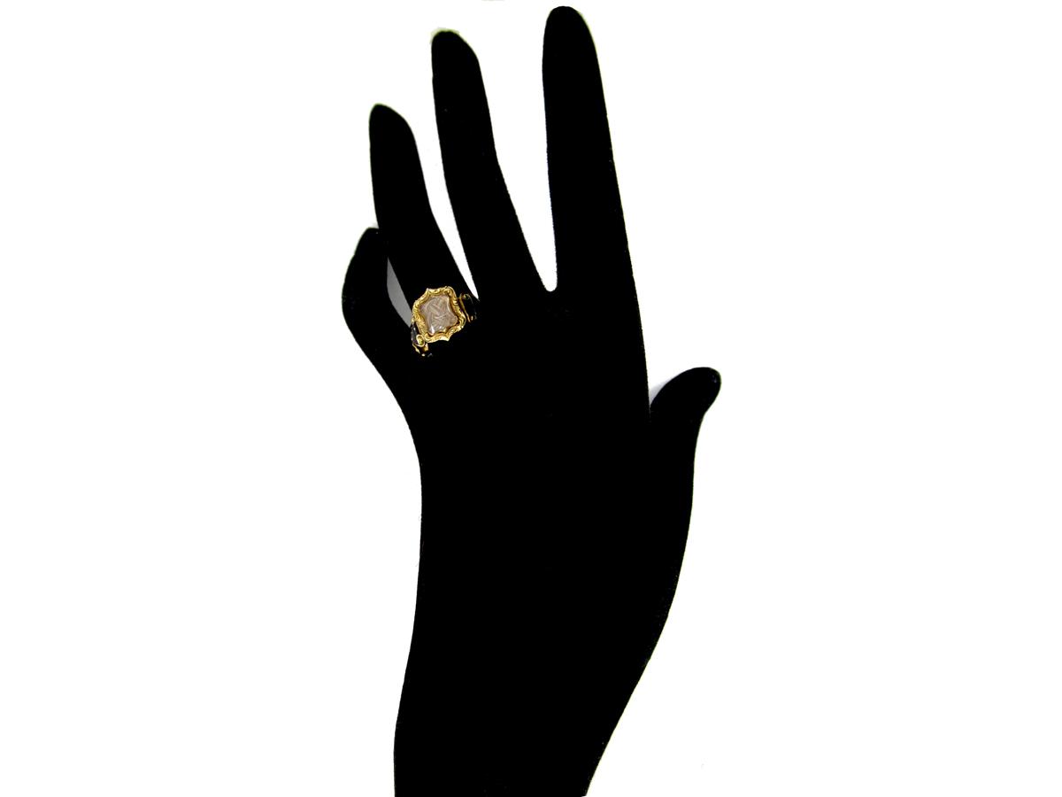 18ct Gold Georgian Mourning Ring