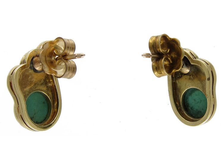 Turquoise & Pearl Stud Earrings
