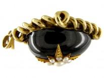 Cabochon Garnet Pendant