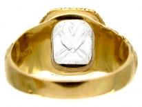 Rock Crystal Intaglio Ring