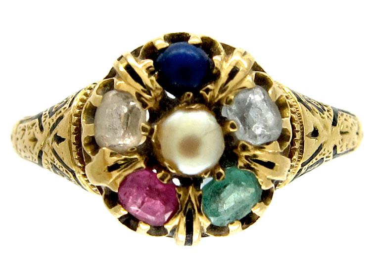 Victorian Multi Stone Ring
