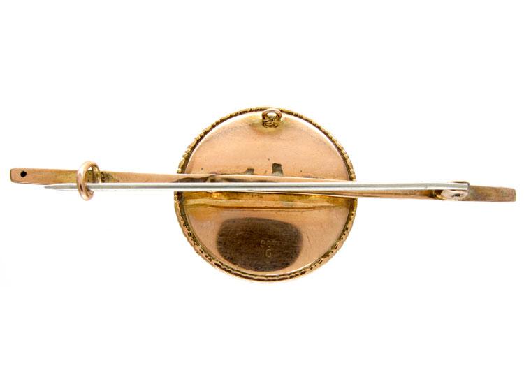 Butterfly Wing 9ct Gold Sulphide Brooch