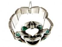 Scottish Silver & Malachite Knot Bracelet