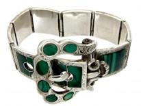 Scottish Silver & Malachite Bracelet