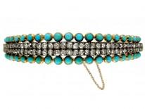 Turquoise & Diamond Bangle