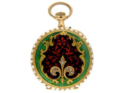14ct Gold Edwardian Enamel Watch