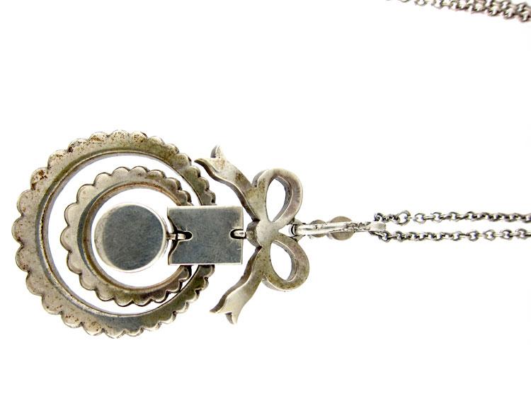 Edwardian Silver Bow Pendant