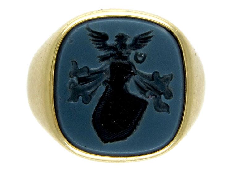 Hardstone Intaglio Signet Ring