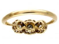 Triple Cluster Diamond Ring