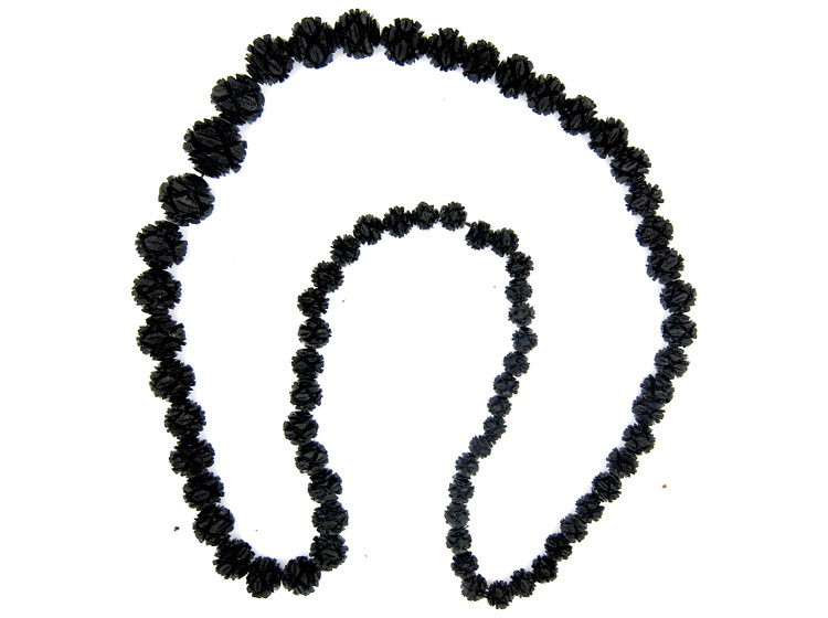 Carved Jet Beads