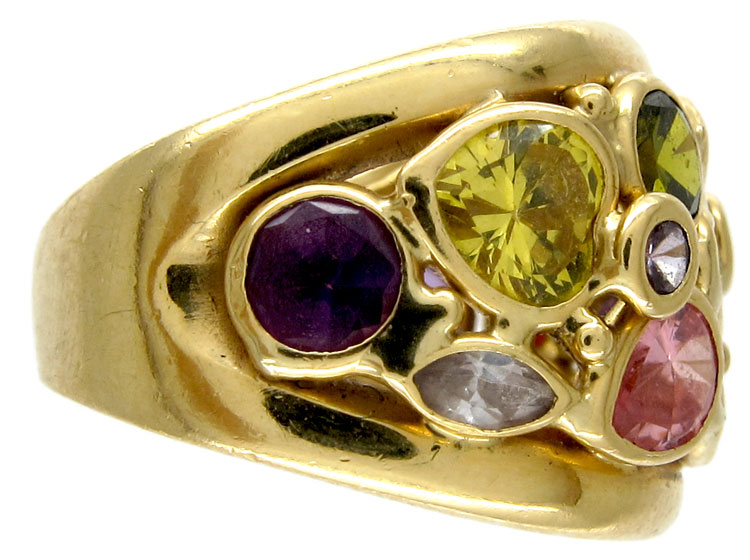 Multi Gemstone Ring
