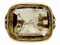 Citrine Intaglio Ring