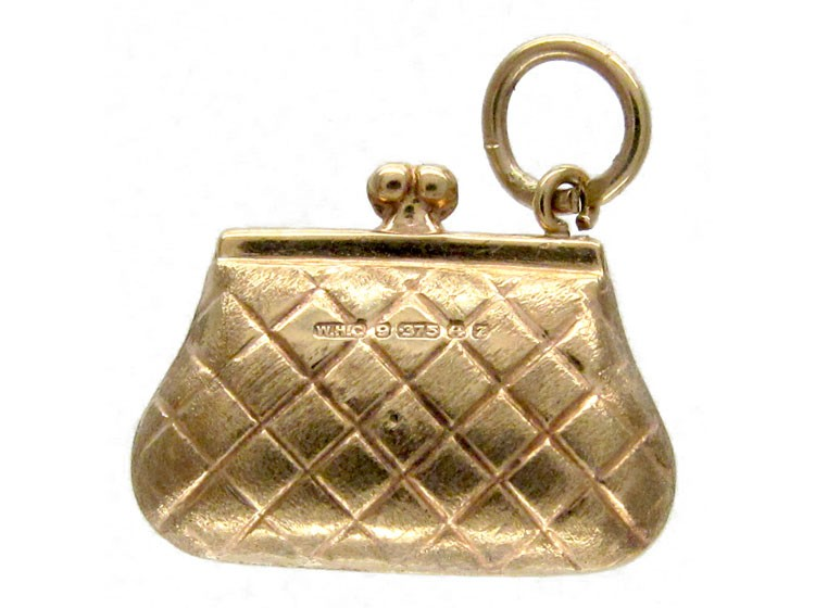 Gold Handbag Charm