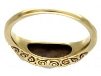 Natural Pearl & Diamond Ring
