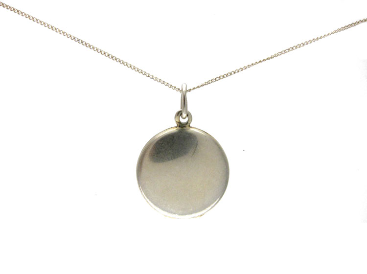 Silver Enamel Locket Pendant