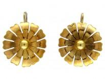 Victorian Gold Flower Earrings