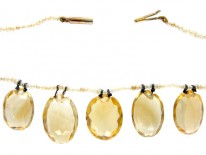 Citrine & Natural Pearls Necklace