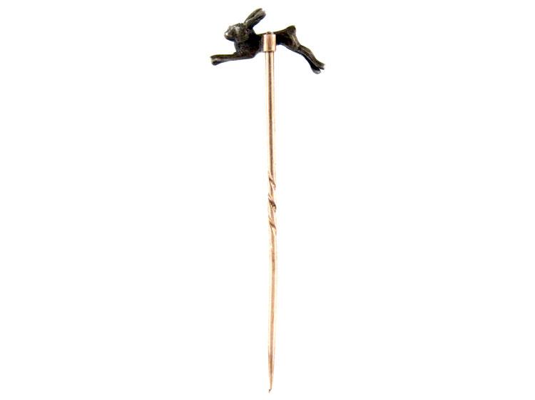 Diamond Hare Tie Pin