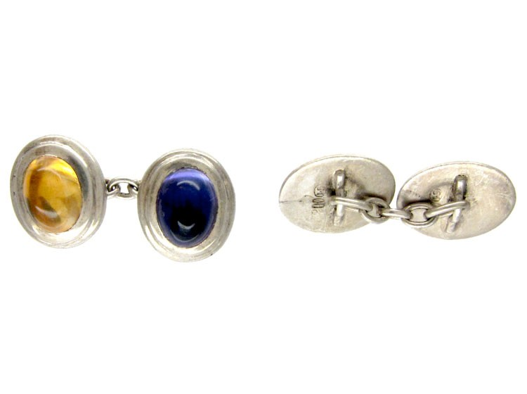 Silver Multistone Cufflinks