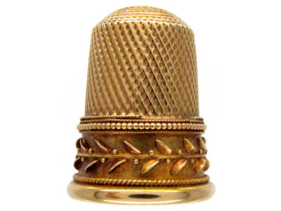 Gold Thimble in Case