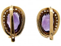Siberian Amethyst & Diamond Earrings