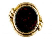Bloodstone 18ct Gold Signet Ring