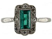 Art Deco Emerald & Diamond Ring