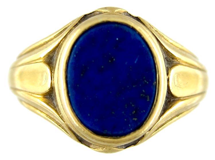 Lapis Lazuli 18ct Gold Signet Ring