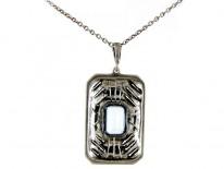 Marcasite & Silver Pendant
