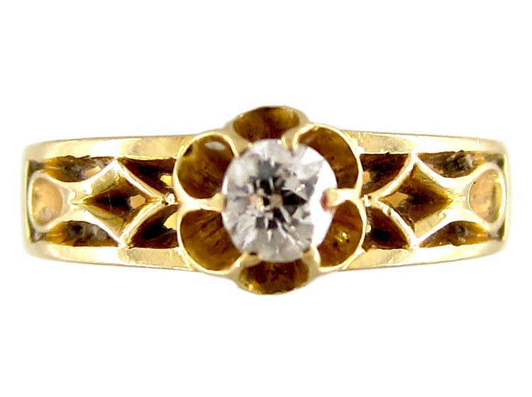 Victorian Diamond Solitaire Ring